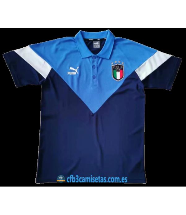 CFB3-Camisetas Polo Italia 2020 Azul