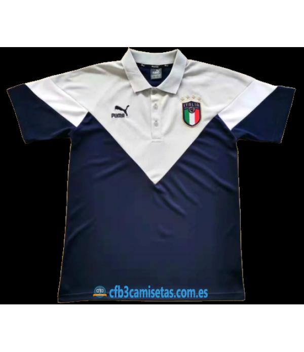 CFB3-Camisetas Polo Italia 2020 Blanco
