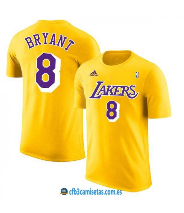 CFB3-Camisetas Camiseta Los Angeles Lakers Gold