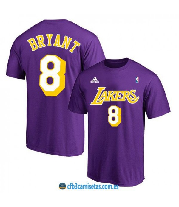 CFB3-Camisetas Camiseta Los Angeles Lakers Purple