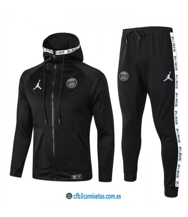 CFB3-Camisetas Chándal PSG x Jordan 2019/20 All Black