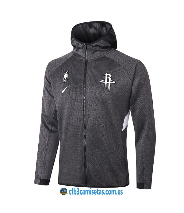 CFB3-Camisetas Chaqueta con capucha Houston Rockets - Black