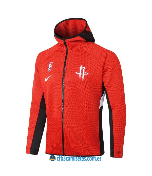 CFB3-Camisetas Chaqueta con capucha Houston Rockets - Red