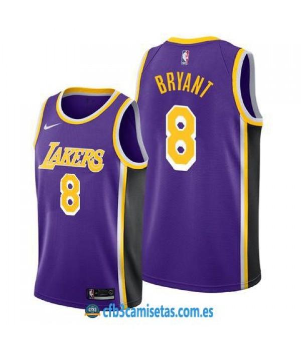 CFB3-Camisetas Kobe Bryant Los Angeles Lakers 8 Purple