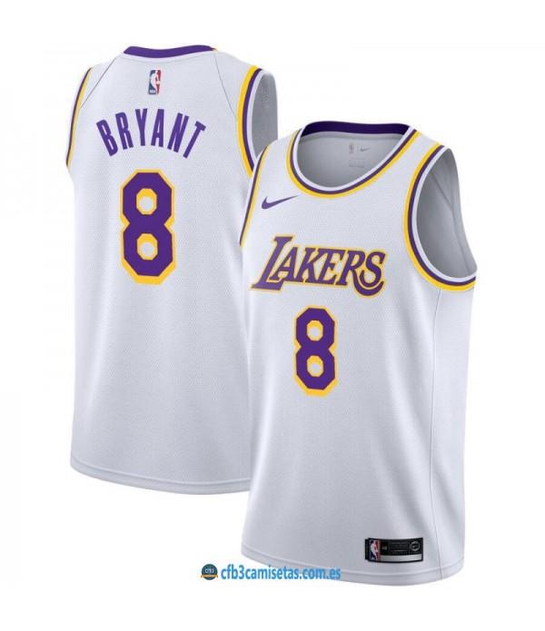 CFB3-Camisetas Kobe Bryant Los Angeles Lakers 8 White