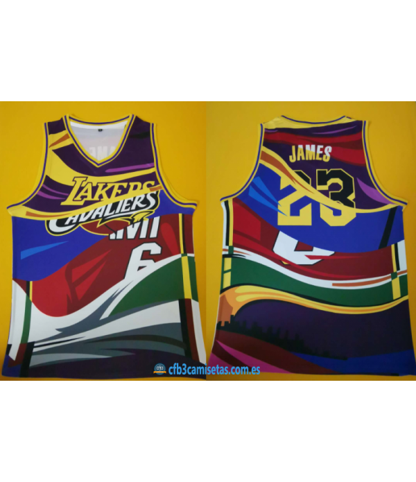 CFB3-Camisetas LeBron James Mashup 2020 Jersey
