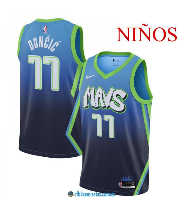 CFB3-Camisetas Luka Doncic Dallas Mavericks -NIÑOS