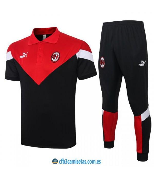 CFB3-Camisetas Polo Pantalones AC Milan 2019/20