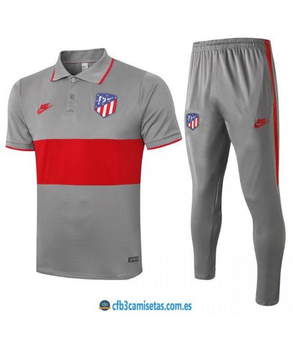 CFB3-Camisetas Polo Pantalones Atlético Madrid 2019/20