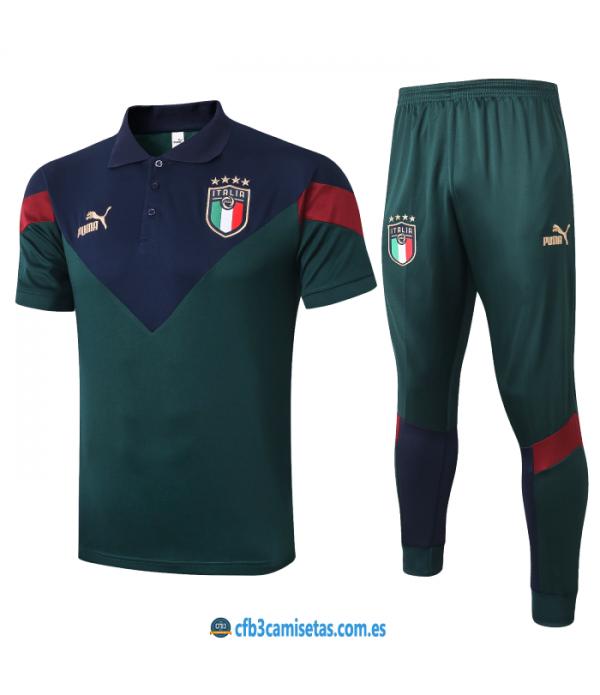 CFB3-Camisetas Polo Pantalones Italia 2020/21