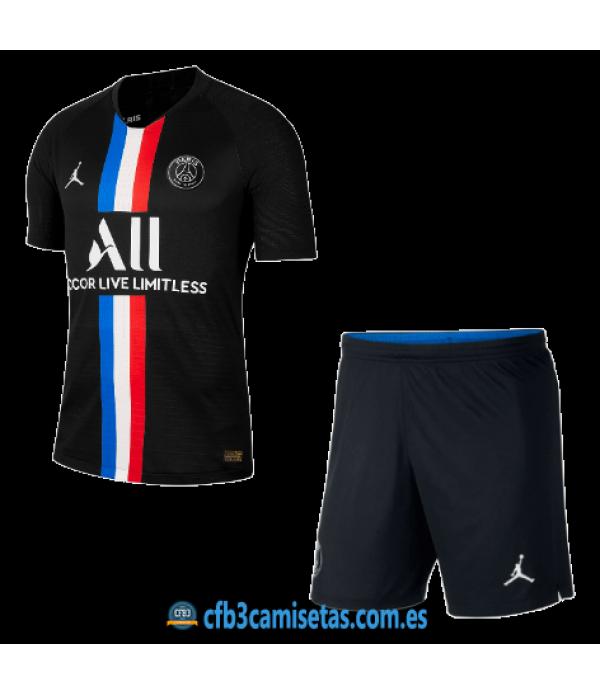 CFB3-Camisetas PSG 4a Equipación 2019/20 Kit Junior