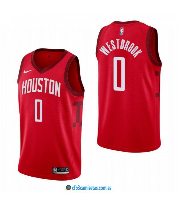 CFB3-Camisetas Russell Westbrook Houston Rockets 2019/20 - Earned Edition