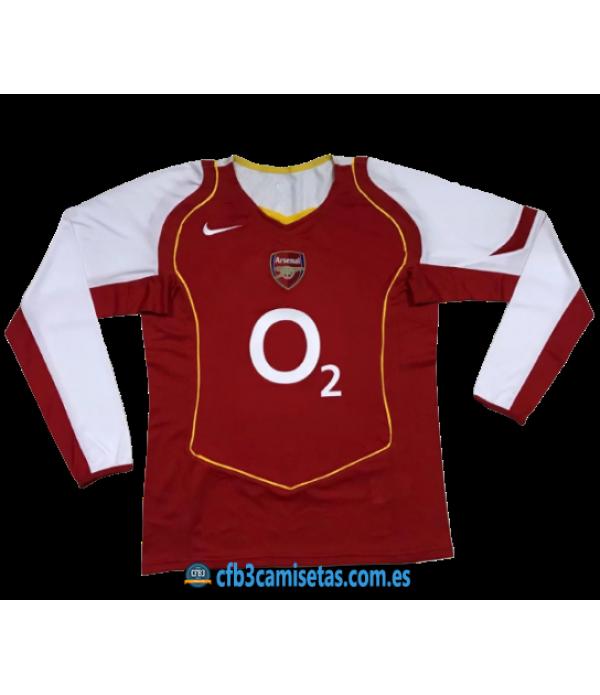 CFB3-Camisetas Arsenal 1a Equipación 2004-05 ML