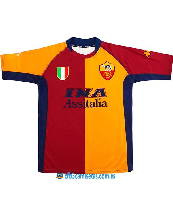 CFB3-Camisetas AS Roma 1a Equipación 2000-01