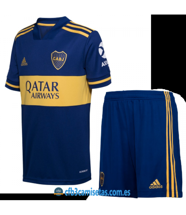 CFB3-Camisetas Boca Juniors 1a Equipación 2020/21 Kit Junior