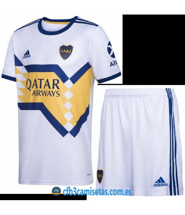 CFB3-Camisetas Boca Juniors 2a Equipación 2020/21 Kit Junior