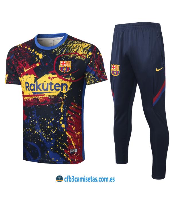 CFB3-Camisetas Camiseta Pantalones FC Barcelona 2019/20 Color