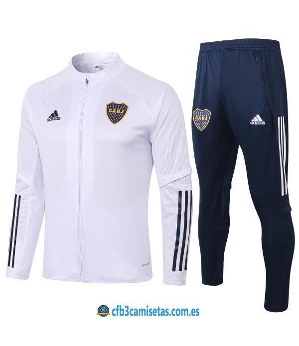 CFB3-Camisetas Chándal Boca Juniors 2020/21 - Qatar Blanco
