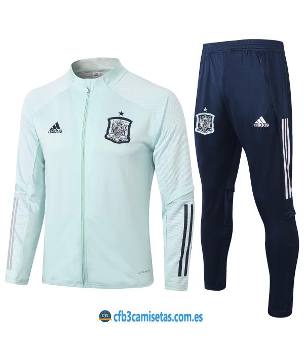 CFB3-Camisetas Chándal España 2020/21 - Blanco