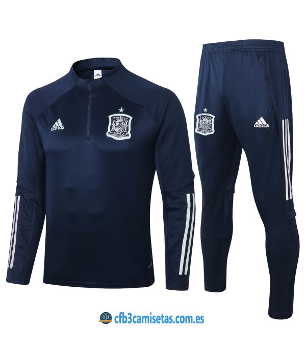CFB3-Camisetas Chándal España 2020/21 - Negro
