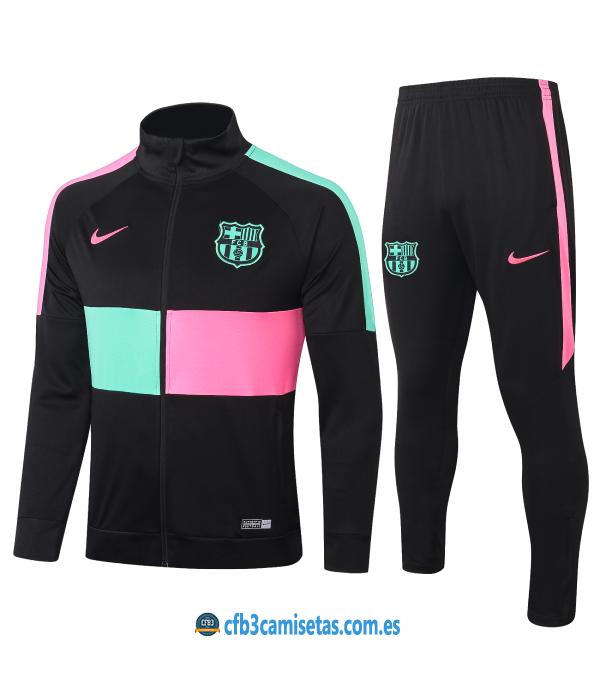CFB3-Camisetas Chándal FC Barcelona 2020/21 - Multicolor