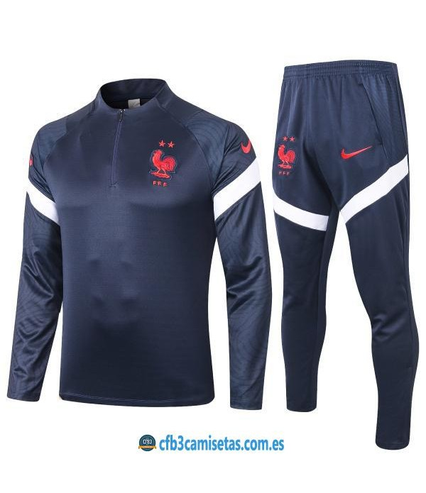 CFB3-Camisetas Chándal Francia 2020/21 - JUNIOR