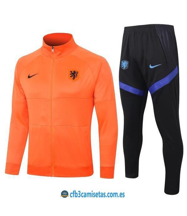 CFB3-Camisetas Chándal Holanda 2020/21 - Naranja