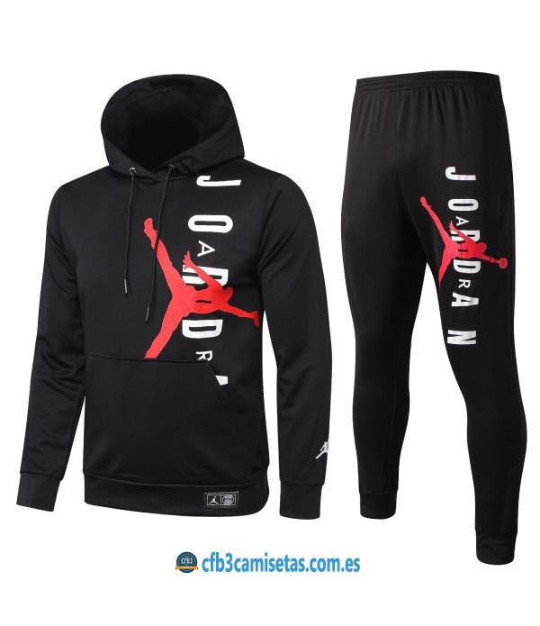 CFB3-Camisetas Chándal PSG 2019/20 Capucha Negro