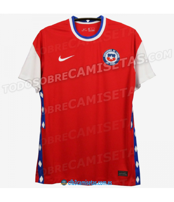 CFB3-Camisetas Chile 1a Equipación 2020/21