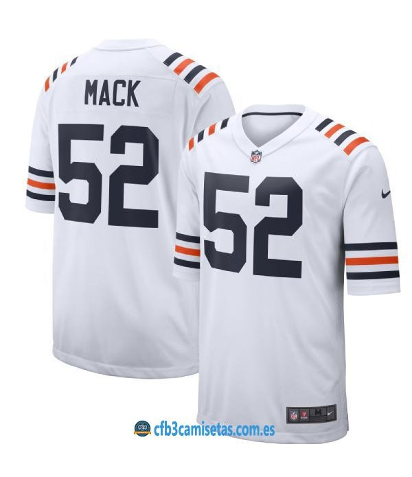 CFB3-Camisetas Khalil Mack Chicago Bears - White