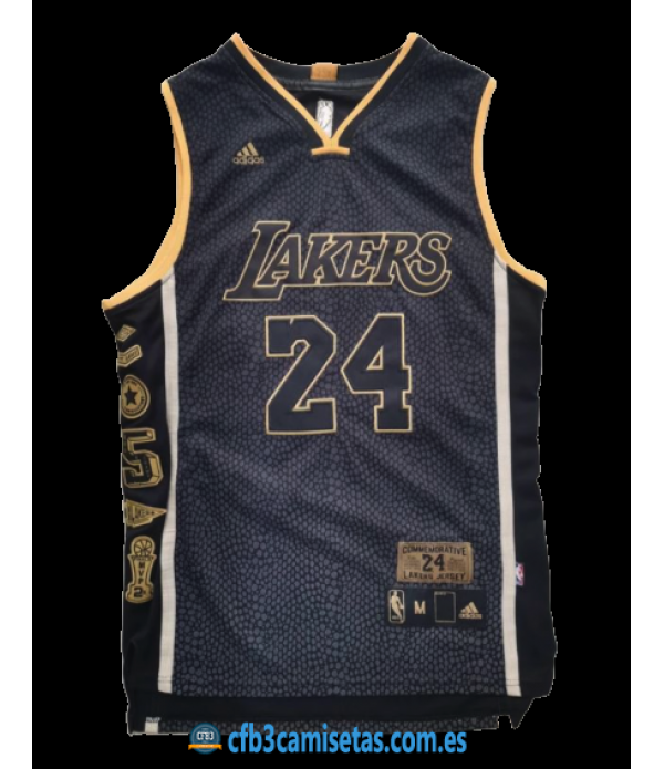 CFB3-Camisetas Kobe Bryant Los Angeles Lakers - Commemorative