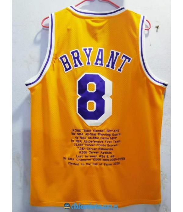 CFB3-Camisetas Kobe Bryant Los Angeles Lakers - Special Edition [Amarilla]
