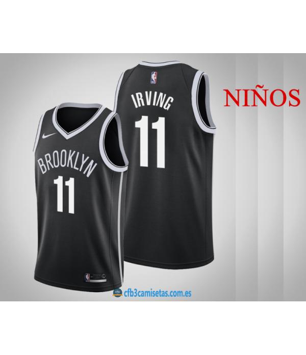 CFB3-Camisetas Kyrie Irving Brooklyn Nets 2019/20 Icon - NIÑOS