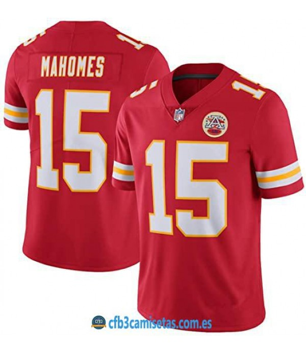 CFB3-Camisetas Patrick Mahomes Kansas City Chiefs - Red
