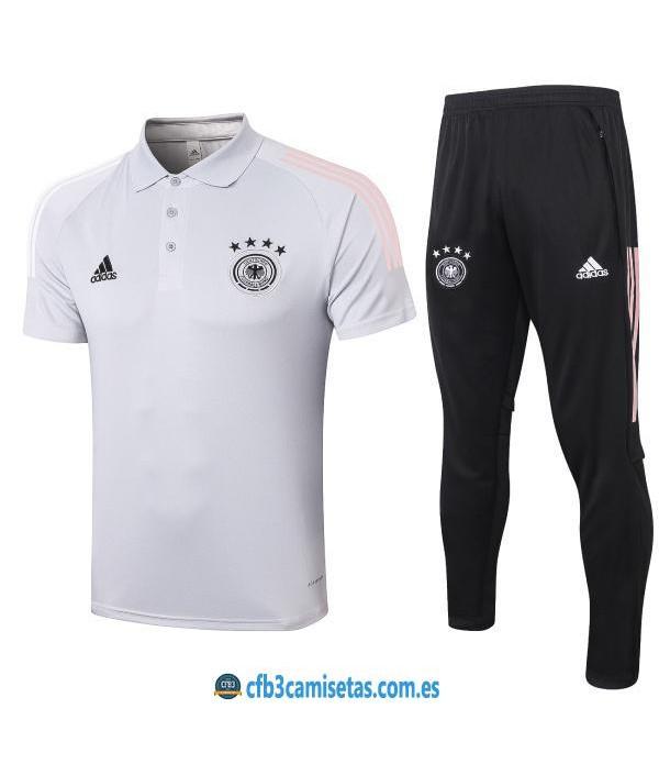 CFB3-Camisetas Polo Blanco Pantalones Alemania 2020/21