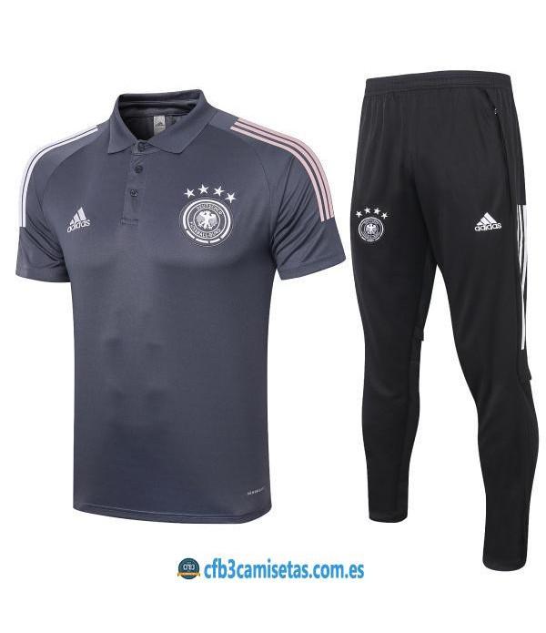 CFB3-Camisetas Polo Pantalones Alemania 2020/21