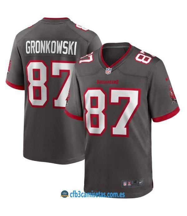 CFB3-Camisetas Rob Gronkowski Tampa Bay Buccaneers - Pewter