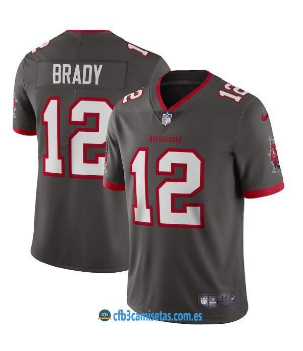 CFB3-Camisetas Tom Brady Tampa Bay Buccaneers - Pewter