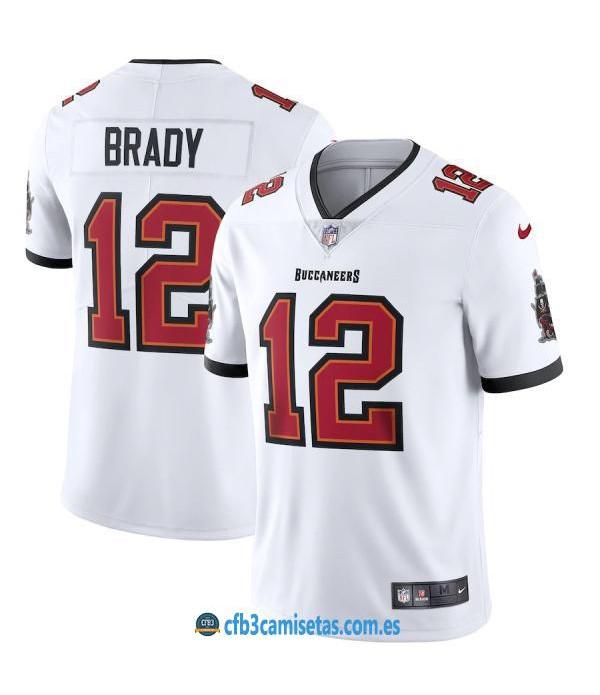 CFB3-Camisetas Tom Brady Tampa Bay Buccaneers - White