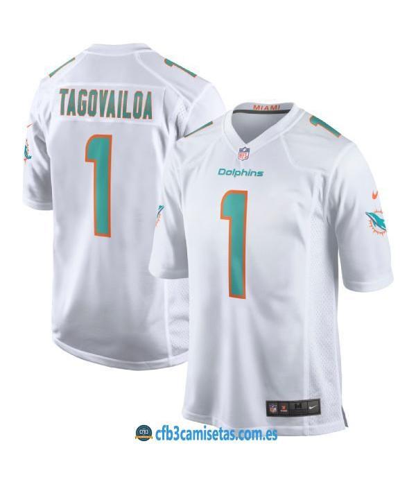 CFB3-Camisetas Tua Tagovailoa Miami Dolphins - White