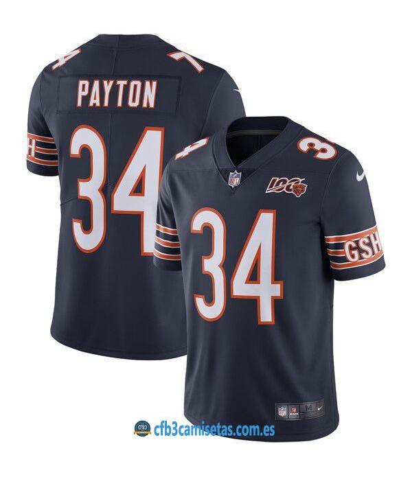 CFB3-Camisetas Walter Payton Chicago Bears - Navy