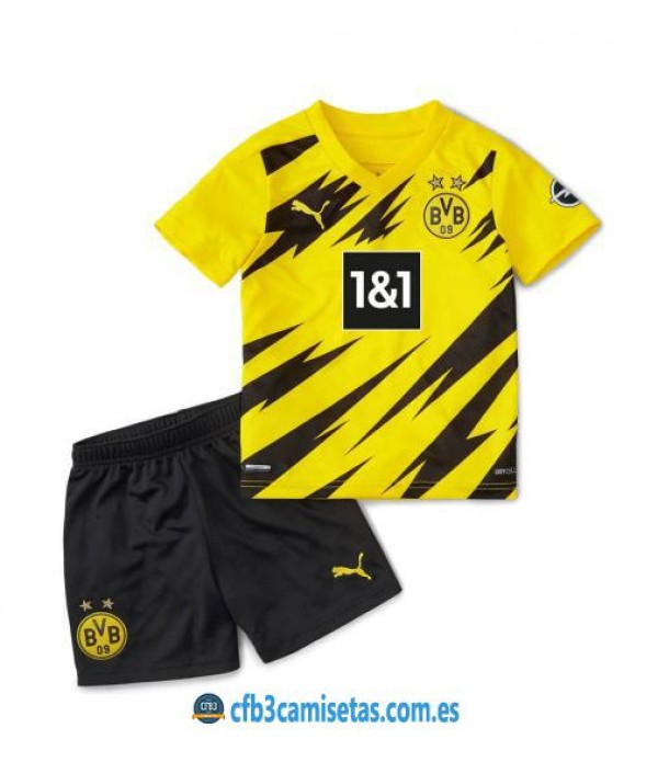 CFB3-Camisetas Borussia Dortmund 1a Equipación 2020/21 - NIÑOS