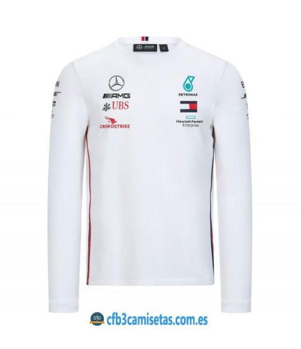 CFB3-Camisetas Camiseta Mercedes AMG Petronas 2020 ML - Blanco