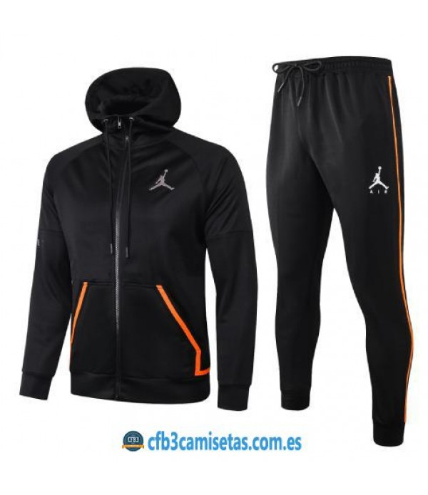 CFB3-Camisetas Chándal Air Jordan 2020/21 - Black