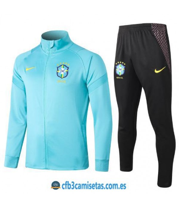 CFB3-Camisetas Chándal Brasil 2020/21