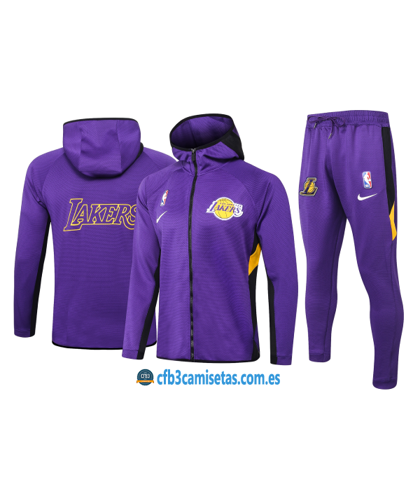CFB3-Camisetas Chándal Los Angeles Lakers - Purpl...