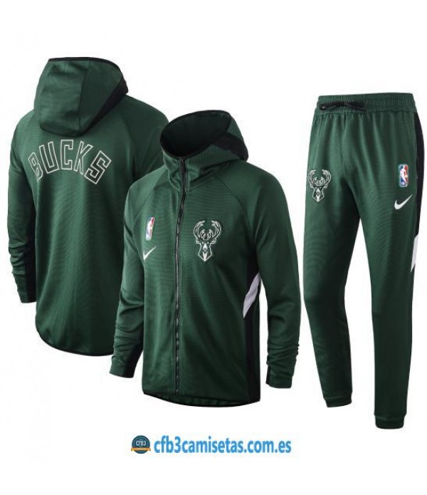 CFB3-Camisetas Chándal Milwaukee Bucks - Green