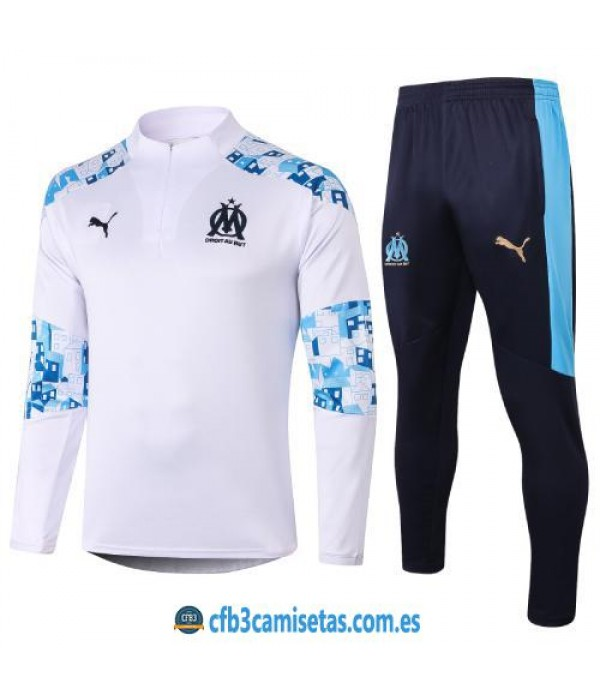 CFB3-Camisetas Chándal Olympique Marsella 2020/21 - Blanco