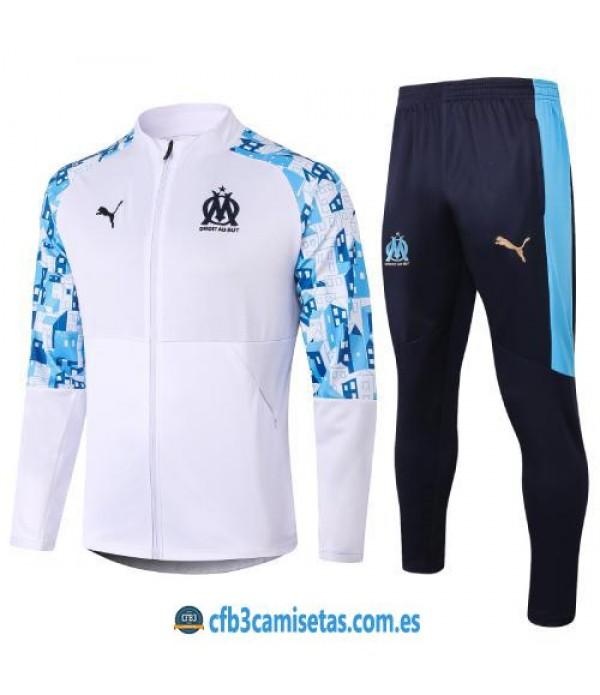 CFB3-Camisetas Chándal Olympique Marsella 2020/21 - Blanco/Azul