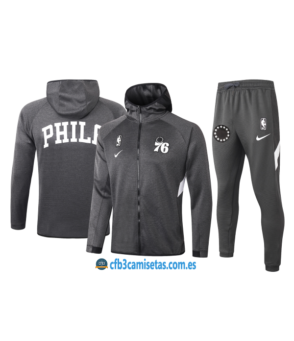 CFB3-Camisetas Chándal Philadelphia 76ers - Black
